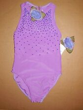 NWOT beaded high neck leotard great for gymnastics dance medium child floral hdp