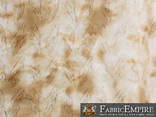 """Minky Long Pile Fabric Spotted Camel / 62"""" Wide / Sold by the yard"""