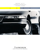 1994 Lincoln 12-page Car Brochure Catalog - Town Car Mark VIII Continental