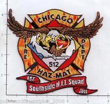 Illinois - Chicago Hazardous Incident Team 512 IL Fire Dept Patch  Haz Mat