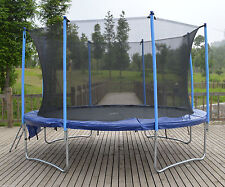 12ft Trampoline plus safe internal safety net enclosure, ladder and rain cover