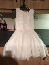 Girls White Dress On Autograph Label Size 8-9 Years