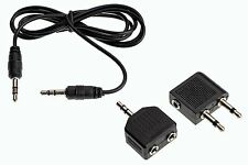 Audio Adaptor 3.5mm Jack Plug / Splitter / Cable  MP3  Aricraft  Travel 3 Pc Set