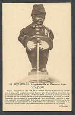 Ca 1907* VINTAGE BRUSSLES A STATUE BEING NAUGHTY GETS A CITATION