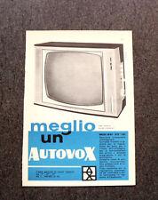 M109- Advertising Pubblicità -1960- AUTOVOX TELEVISORE MOD 891