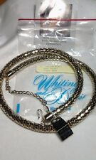 Vintage Whiting and Davis Gold Mesh Coiled Necklace / Belt NWT & Bag-Beautiful!
