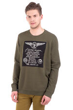 RRP €110 DIESEL Size XL Men's S-PUR Distressed Pullover Sweatshirt - From POPPRI