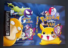 "Pokemon Original Series Promo Poster Local TV Channel WB 1999 14.5"" x 22"""