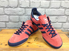 ADIDAS MENS UK 5 EU 38 JEANS MKII RED NAVY TRAINERS RARE