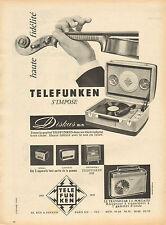 Publicité 1957  TELEFUNKEN  electrophone tourne disque