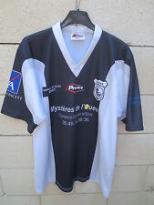 Maillot rugby porté n°7 STADE POITEVIN POITIERS ProAct noir France Ecosse 2007