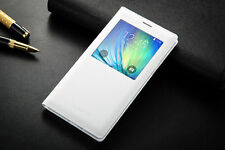 S View Window For Samsung Galaxy A7 A8 A3 A5 Flip Leather Stand Cover Case Skin