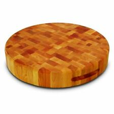 Round Reversible Cutting Chopping Board Wooden Wood Kitchen Large Butcher Block