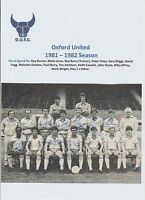 OXFORD UNITED 1981-1982 TEAM GROUP ORIGINAL HAND SIGNED 14 X SIGNATURES
