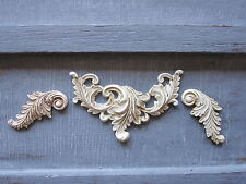 THREE LITTLE SHABBY CHIC DECORATIVE VINTAGE MOULDINGS/PROJECT