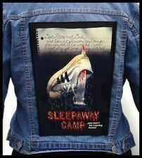 SLEEPAWAY CAMP --- Giant Backpatch Back Patch / Horror Movie Slasher Gore