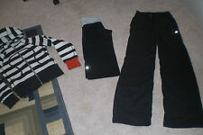 Lot of Lululemon Dance Studio Pants unlined, Rare Hoodie and Luon Crops sz 2