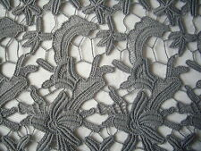 Guipure lace fabric, Grey 126cm wide x 50cm