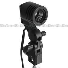 Photography Photo Studio Flash Light Lamp Bulb Single Holder E27 Socket Bracket