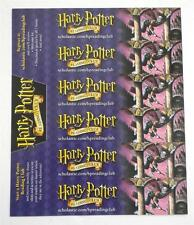 New  Harry Potter  Reading Club Promotional  Bookmarks  Six  Total