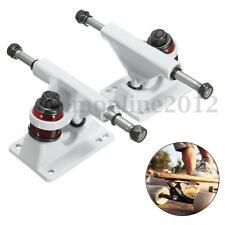 2Pcs White Aluminum Alloy Skateboard Bridge Trucks for 22'' Mini Penny Board New