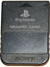 Official Genuine Sony PlayStation 1 PS1 Black Memory Card SCPH-1020
