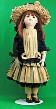26 -Inch Porcelain Doll - FG 6 reproduction -Leather Body -French Costume