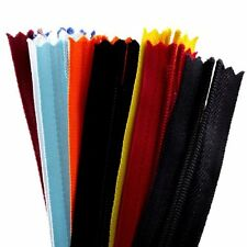 20pcs 23 Inch Assorted Color Invisible Zippers Closed Sewing Craft Zipperstop