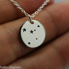 CANCER NECKLACE - 925 Sterling Silver Cancer Charm Zodiac Constellation Sign NEW