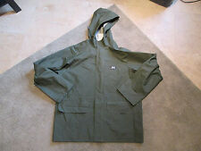 VINTAGE Helly Hansen Hooded Waterproof Rain Jacket Adult Small Green Coat 90s