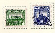 Denmark - Full 1921 Buildings set. Scott #159-160 USED