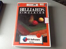 Vintage Ms Dos Game Infogrames#Billiards Simulator#Nib