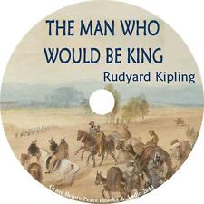The Man Who Would Be King, Rudyard Kipling India Adventure Audiobook on 1 MP3 CD
