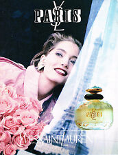 PUBLICITE ADVERTISING 035  1993  YVES SAINT LAURENT parfum femme YSL