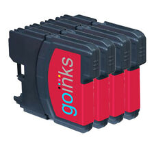 4 Magenta Ink Cartridges for Brother DCP-J125, DCP-J140W, DCP-J315W, DCP-J515W
