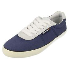 MENS ELLESSE CANVAS PEACOT (NAVY)/WHITE LACE UP SHOE STYLE - PORTOFINO