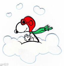 """3.5""""  SNOOPY RED BARON PLANE  VINTAGE  PREPASTED WALL  BORDER CUT OUT CHARACTER"""