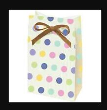 Tiny Bundle Polka Dot Stripes Rubber Duck Baby Shower Party Favor Bags Sacks
