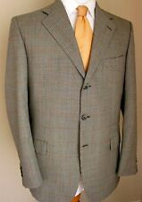 Brioni Blazer 40R Black White Houndstooth Plaid 2 Buttons Italy Sport Jacket Men