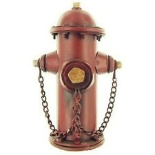 Metal Fire Hydrant Bank. Vintage look. Firefighters, Great gift. Great accent.