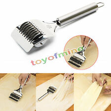 Spaghetti Noodle Maker Lattice Roller Docker Dough Cutter Stainless Steel Tool