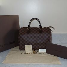 2014 BOX Louis Vuitton Damier Canvas Speedy 30 Handheld Bag $970+TAX