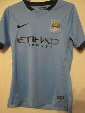 Manchester City 2014-2015 Player Issue Home Football Shirt Size Medium /35232