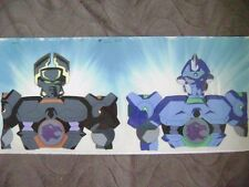 MICROMAN ROBOTMAN BARON & CROSS ANIME PRODUCTION CEL/BACK GROUND