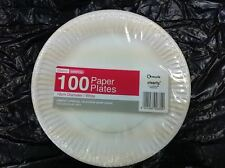 "1000 x Disposable Round White Paper Plates 7"" / 18cm"