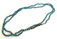 Silpada Howlite Bronzite Sterling Silver Long Bead Great Lenghts Necklace N2396
