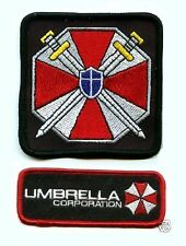 FANCY DRESS HALLOWEEN COSTUME PROP 2-INSIGNIA SET: Resident Evil UMBRELLA CORP.