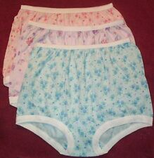 3 Pair 100% COTTON  BAND LEG PANTY Size 6 in Assorted Prints USA Made