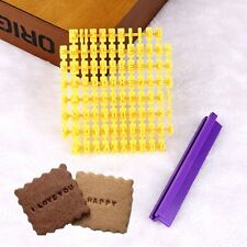 DIY Alphabet Number Letter Cookie Biscuit Stamp Cutter Embosser Cake Mould Tool