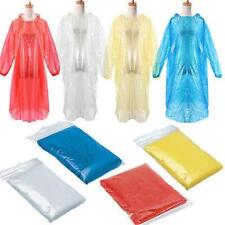 10PC Disposable Adult Emergency Waterproof Rain Coat Poncho Hiking Camping NICE